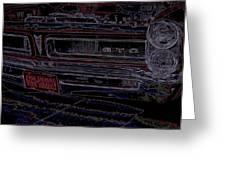 Gto Car Art Greeting Card