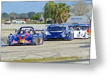 Gtp Prototypes Taking 4 At Sebring Greeting Card