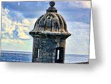 Guard Tower At El Morro Greeting Card