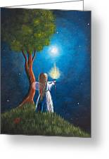 Guardian Of Light By Shawna Erback Greeting Card