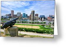 Guarding Baltimore Greeting Card by Olivier Le Queinec