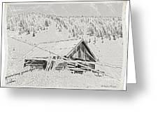 Guarding Grandpa's Cabin Greeting Card