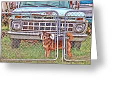 Guarding The Ford Greeting Card