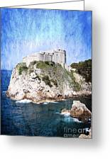 Guarding The Harbour Greeting Card