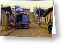 Guatemalan Street Truck Greeting Card