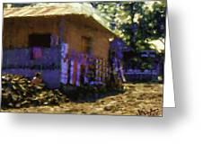 Guatemalan Boy On Wood Pile Greeting Card