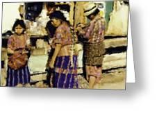 Guatemalan Family Shopping Greeting Card