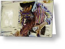 Guatemalan Fisher Boy Greeting Card