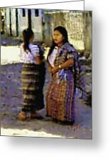 Guatemalan Girls Greeting Card