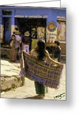 Guatemalan Girl With Shawl Greeting Card