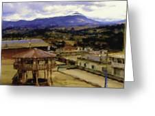Guatemalan Roof Top Four Greeting Card