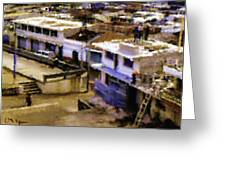 Guatemalan Roof Top Scene Greeting Card
