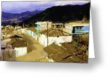 Guatemalan Roof Top Greeting Card