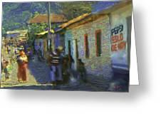 Guatemalan Scene Painter Greeting Card