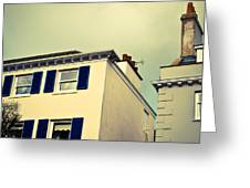 Guernsey Houses Greeting Card by Tom Gowanlock