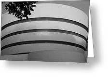 Guggenheim In The Round In Black And White Greeting Card
