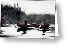 Guides Shooting Rapids Greeting Card