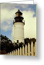 Guiding Light Of Key West Greeting Card