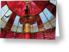 Guiding Red Light Greeting Card