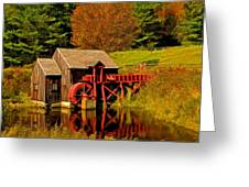Guildhall Grist Mill Greeting Card