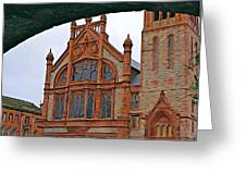 Guildhall In Londonderry Northern Ireland Greeting Card