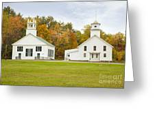 Guildhall Village Historic District In Autumn Vermont Greeting Card