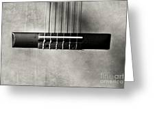 Guitar Abstract In Monochrome Greeting Card