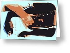 Guitar And Man Greeting Card