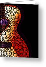 Guitar Art - She Waits Greeting Card