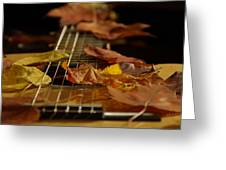 Guitar Autumn 2 Greeting Card
