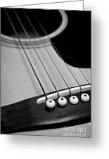 Guitar Bridge In Black And White Greeting Card