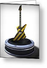 Guitar Desplay V3 Greeting Card by Frederico Borges