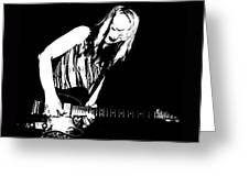 Fender Guitar Girl  Greeting Card