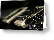 Guitar Glance Greeting Card