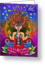 Guitar Goddess Greeting Card
