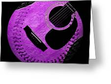 Guitar Grape Baseball Square Greeting Card