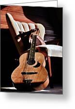 Guitar In Sunlight Greeting Card