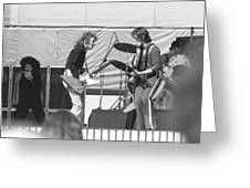 Guitar Interplay At The Day On The Green 6-6-76 Greeting Card