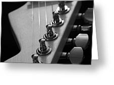 Black And White Guitar Greeting Card