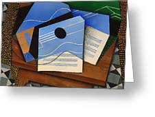 Guitar On A Table Greeting Card