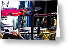 10261 Seasick Steve's Guitar On Drum Greeting Card