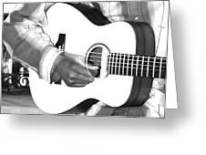 Guitar Player Greeting Card by Aidan Moran