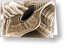 Guitar Player Greeting Card