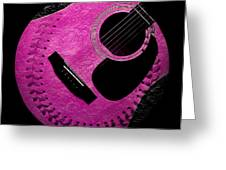 Guitar Raspberry Baseball Greeting Card