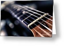 Guitar Strings Greeting Card by Stelios Kleanthous