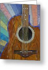 Guitar Sunshine Greeting Card by Michael Creese