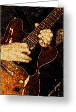 Guitar Tinted Copper Greeting Card