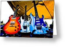 Guitar Trio Greeting Card