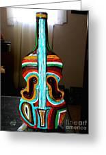 Guitar Vase Greeting Card