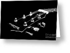 Guitar Ventura Head Stock 1 Greeting Card